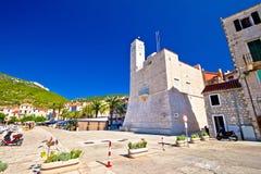 Komiza on Vis island waterfront view Stock Photography