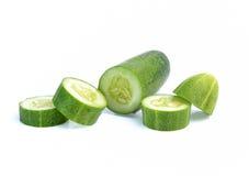 Komkommer die op witte achtergrond wordt geïsoleerd Royalty-vrije Stock Foto