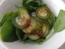 Komkommer en baby de mengeling van de bladsalade stock afbeeldingen