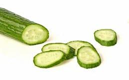 Komkommer en zijn plakken Royalty-vrije Stock Foto's
