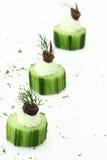 Komkommer met kaasroom Royalty-vrije Stock Foto