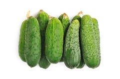 Komkommer op een witte achtergrond Stock Afbeelding