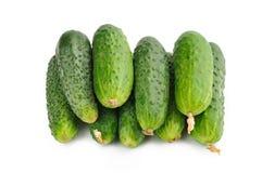 Komkommer op een witte achtergrond Royalty-vrije Stock Foto