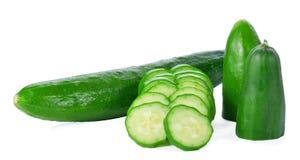 Komkommer op witte achtergrond Stock Fotografie