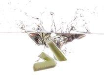 Komkommer undwerwater Royalty-vrije Stock Afbeelding