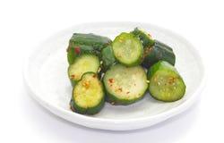 Komkommergroenten in het zuur Stock Foto's