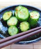 Komkommergroenten in het zuur Stock Foto