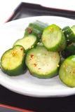 Komkommergroenten in het zuur Stock Afbeelding