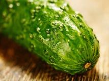 Komkommermacro Royalty-vrije Stock Afbeeldingen