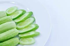 Komkommerplak Royalty-vrije Stock Foto