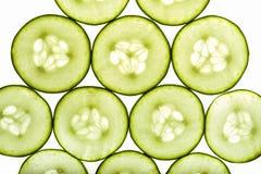 Komkommerplakken Stock Foto's