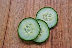 Komkommerplakken Royalty-vrije Stock Foto