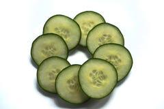 Komkommerplakken Stock Afbeeldingen