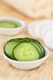 Komkommerplakken voor Gezichtszorg Royalty-vrije Stock Fotografie