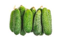 Komkommers die op wit worden geïsoleerdg Royalty-vrije Stock Fotografie