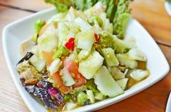 Komkommersalade - Som Tum Tang Royalty-vrije Stock Afbeelding
