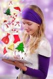 Komma för jul Arkivbilder