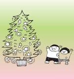 komma för jul Arkivfoto