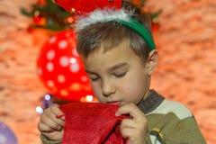 Komma för jul Arkivbild