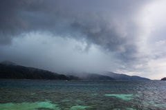 Komma för regnstorm Royaltyfria Bilder