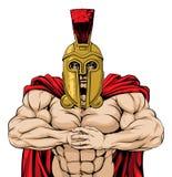 Komma med det den spartanska maskot Arkivbild
