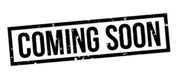 Komma svart stämpelemblem för snart fyrkantig grunge royaltyfri illustrationer