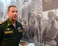 Kommandant - herein - Leiter der internen Truppen des Innenministeriums von Russland, General der Armee Viktor Zolotov stockbilder