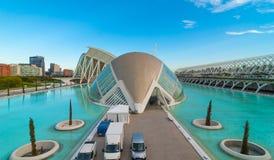 Kommande aftonmöte på L'hemispheric i Valencia, stad av konster och vetenskaper royaltyfria foton