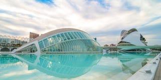 Kommande aftonmöte på L'hemispheric i Valencia, stad av konster och vetenskaper arkivfoton