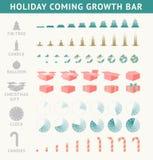 Kommande framstegstång för ferie stock illustrationer