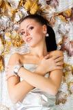 kommande frysning för höst som får ladyvinter Arkivbilder