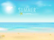 kommande sommar vektor illustrationer