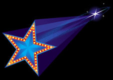 kommande stjärna royaltyfri illustrationer