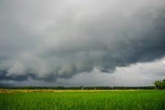 kommande storm Arkivbild