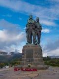 Kommando-Denkmal in Spean-Brücke Schottland lizenzfreie stockfotos