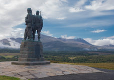 Kommando-Denkmal in Spean-Brücke Schottland stockbild