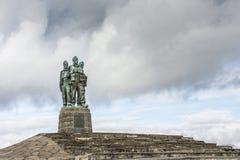 Kommando-Denkmal an Spean-Brücke in Schottland stockfotos