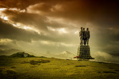 Kommando-Denkmal-Statue lizenzfreie stockfotos