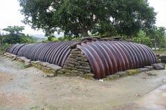 Kommandobunker i Dien Bien Phu Arkivfoto