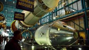 Kommandoenheten av den Saturn 5 raket stock video