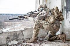 Kommandosoldat för Förenta staternaarmé Royaltyfri Fotografi