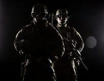 Kommandosoldater för Förenta staternaarmé Arkivbilder