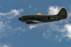 `-KOMMANDOT FÖR CURTISS C-46 `` GREJAR BELLE `, Royaltyfria Bilder