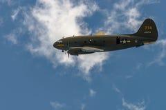 `-KOMMANDOT FÖR CURTISS C-46 `` GREJAR BELLE Royaltyfria Bilder