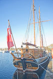 Kommandren berthed at Muirtown Marina, Inverness. Royalty Free Stock Images