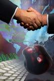kommen överens handskakning Royaltyfri Bild