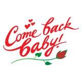 Kommen Baby zurück Stockfotografie
