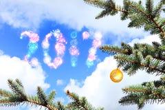 Kommen des neuen Jahres Stockfoto