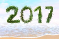 Kommen des neuen Jahres 2017 Lizenzfreie Stockfotos