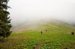 Kommen in eine Wolke Stockfoto